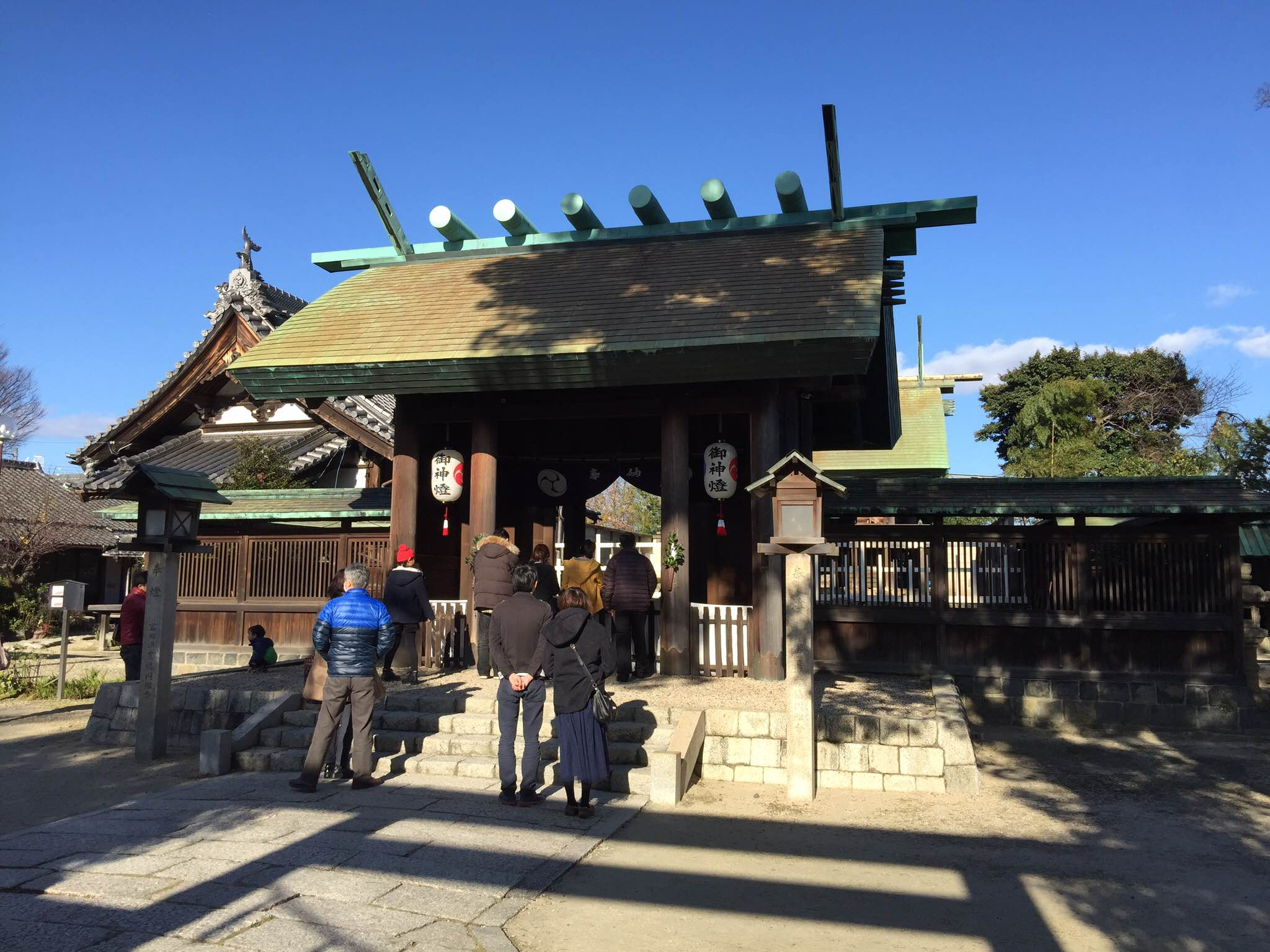 Hatsumode Toride Shrine outside