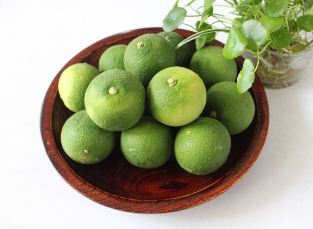 Sudachi, a kind of citrus fruit
