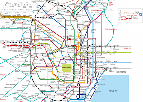 Rail Travel In Tokyo Yokohama The Expats Guide To Japan - Japan map rail